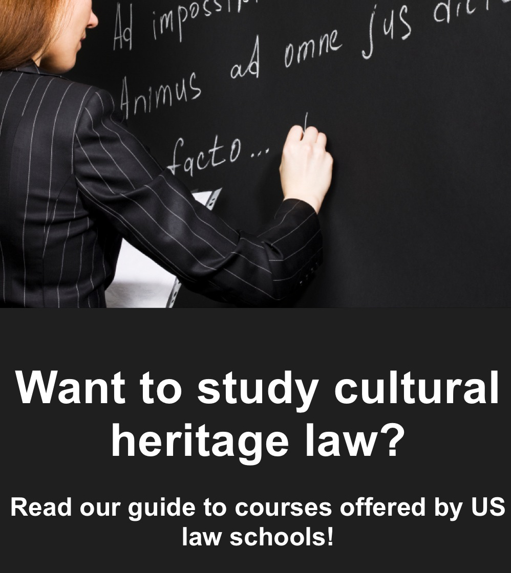 The Lawyers Committee Has Compiled An Extensive List Of Course Offerings In Cultural Heritage Law Which We Intend To Provide As A Primary Resource For